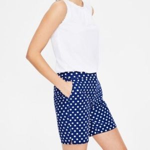 New Boden Richmond Shorts in Lapis Spot Star